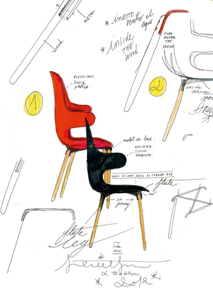 ausgefallene möbel designer Jaime Hayon designer stühle skizze