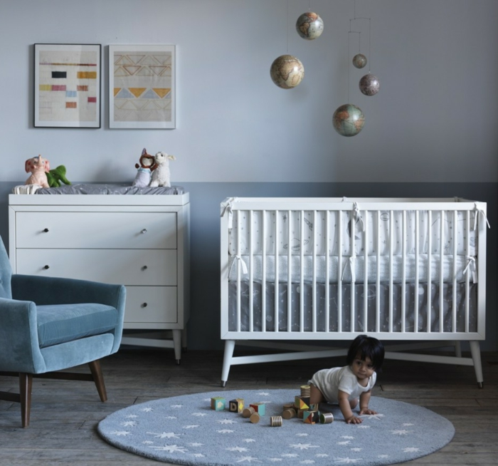 babyzimmer einrichtungsideen wie sie ein herrliches ambiente schaffen. Black Bedroom Furniture Sets. Home Design Ideas