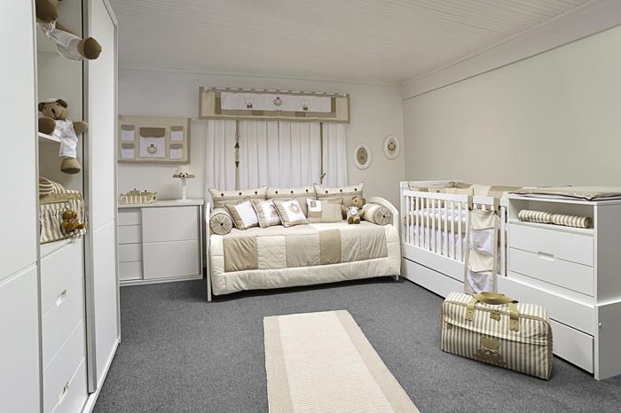 Babyzimmer gestalten beige  Babyzimmer-Einrichtungsideen, wie Sie ein herrliches Ambiente schaffen