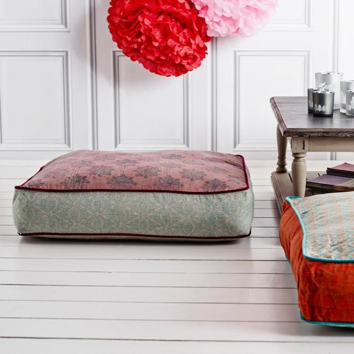 Durch bodenkissen das leben bequemer und komfortabler machen for Tolle wohnaccessoires