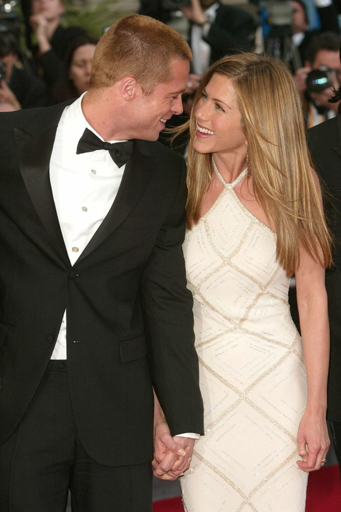 brad pitt und Jennifer Aniston als verheiratet