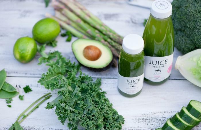 detox kur grüne smoothies avocado limette
