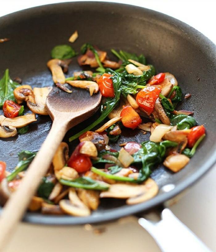 einfache gerichte kochen bratpfanne