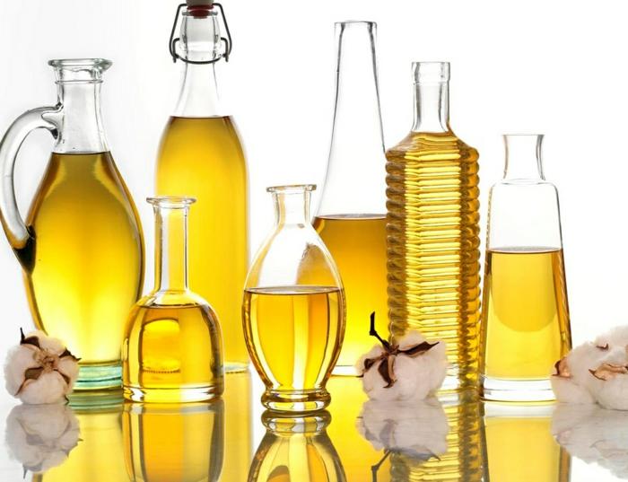 einfache gerichte kochen mit sonnenblumenöl und olivenöl
