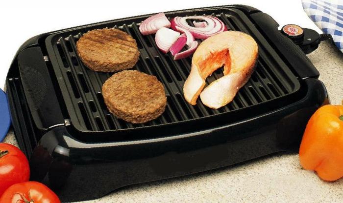 elektrischer grill essen gesund zubereiten