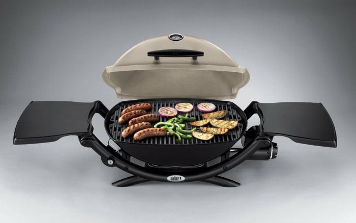 elektrischer grill fleisch gemüse zubereiten
