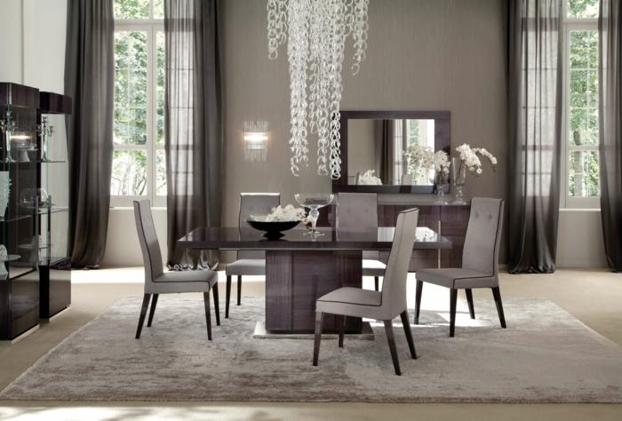 esszimmermöbel luxuriös teppich lange gardinen