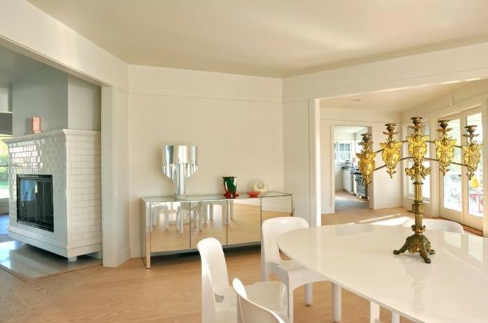 esszimmermöbel ovaler esstisch weißes design coole kommode