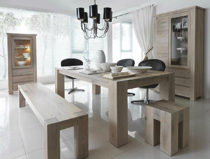 esszimmermöbel rustikales design bänke hocker