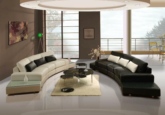 Feng Shui Farben Schwarz Weiss Klassisch Wohnzimmer