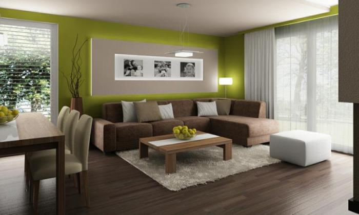 feng shui farben wohnzimmer apfelgrün natur