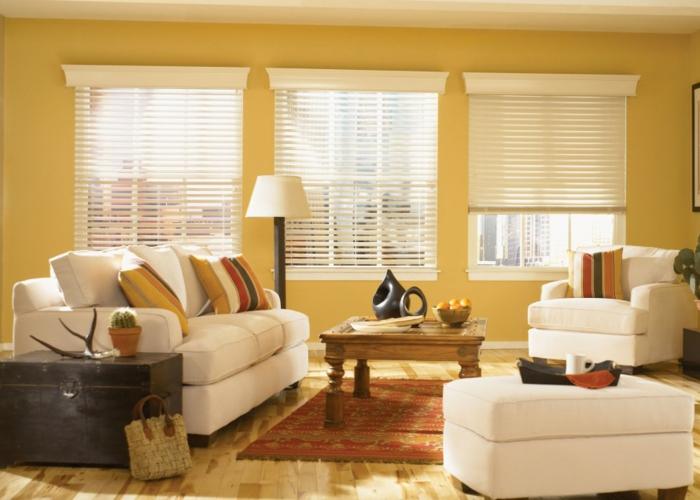 feng shui farben wohnzimmer sonnig gelb wände