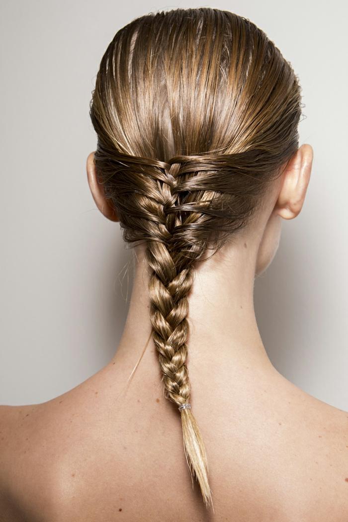 festliche frisuren frauen langes haar zopf