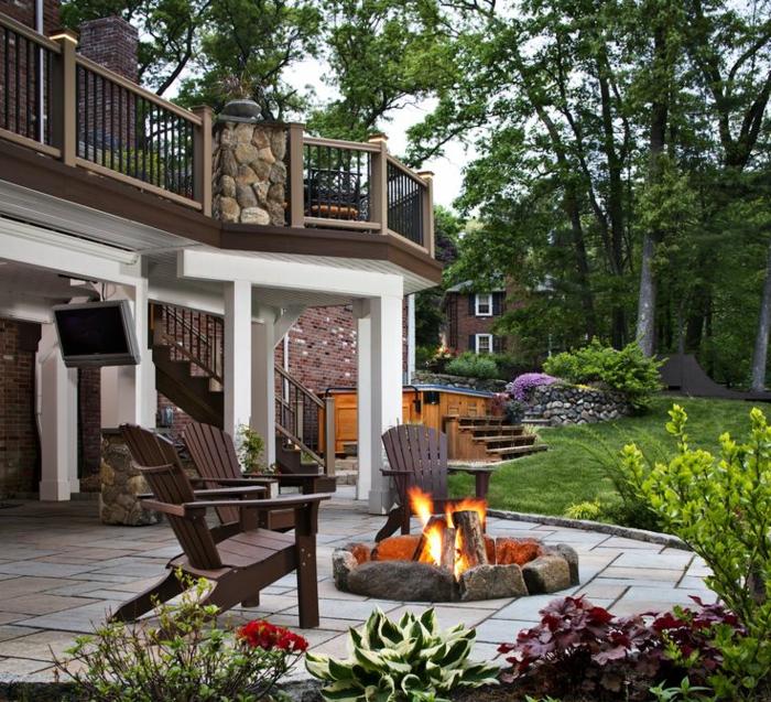 Gartenkamin oder offene feuerstelle 30 ideen wie sie for Feuerstelle garten mit bonsai schale rund