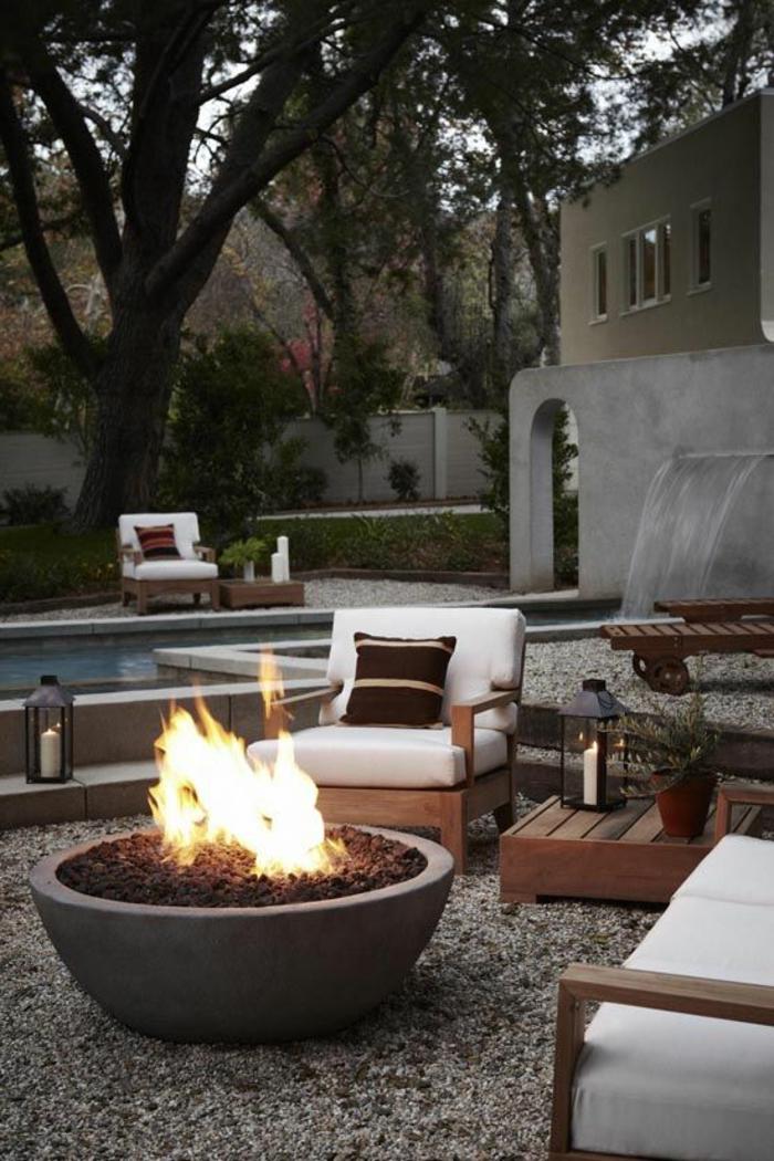 Gartenkamin oder offene feuerstelle 30 ideen wie sie for Feuerstelle garten mit balkon pv