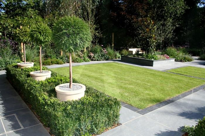 Garten Gestaltung Kreative Gartenideen Rasen Bäume