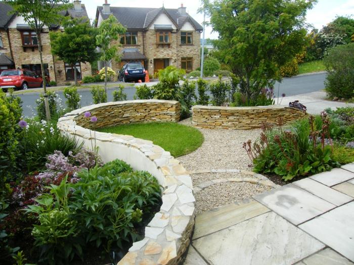 garten gestaltung kreative vorgarten gestalten mit steinen