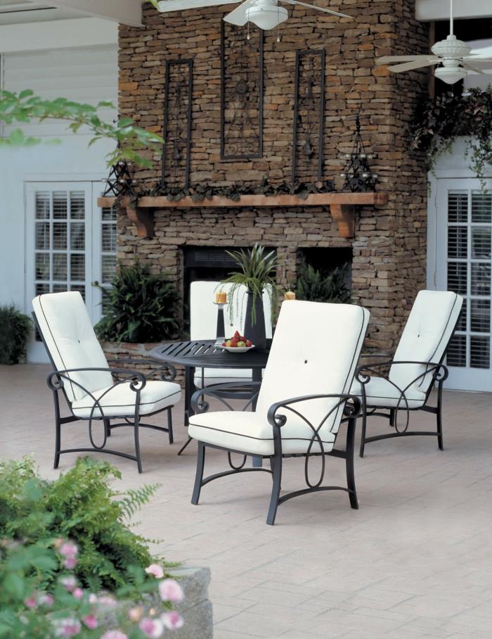 gartenauflagen weiß garten dekoideen pflanzen