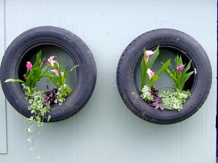 Gartendeko Basteln - Den Garten Originell Dekorieren Alte Autoreifen Ideen