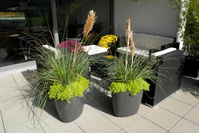gartengestaltung ideen cooles exterieur schaffen pflanzenbehälter