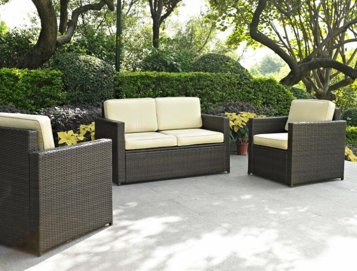 gartenauflagen und sitzkissen vermitteln bequemlichkeit und stil. Black Bedroom Furniture Sets. Home Design Ideas