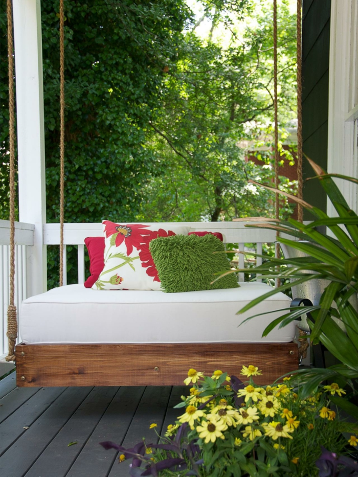 gartengestaltung ideen schaukel pflanzen schönes exterieur