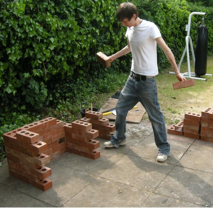 gemauerter grill gartengrill selber bauen diy ideen garten