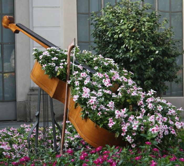 Gartenideen Zum Selber Machen Cello Pflanzkübel