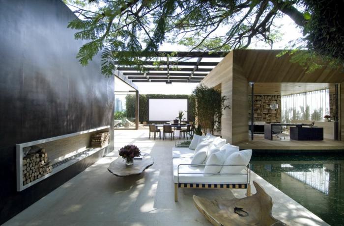 Gartenkamin oder offene feuerstelle 30 ideen wie sie stilvolle gem tlichkeit im garten schaffen - Offene feuerstelle wohnzimmer ...