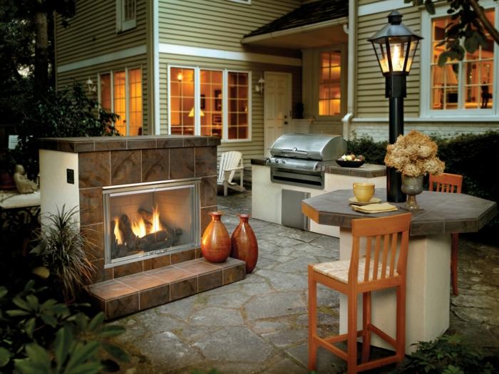 Gartenkamin Oder Offene Feuerstelle 30 Ideen Wie Sie