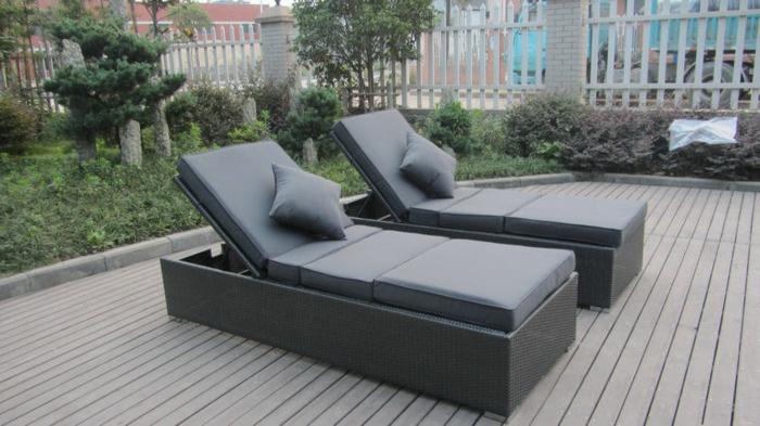 gartenliege im au enbereich gestalten sie eine coole. Black Bedroom Furniture Sets. Home Design Ideas