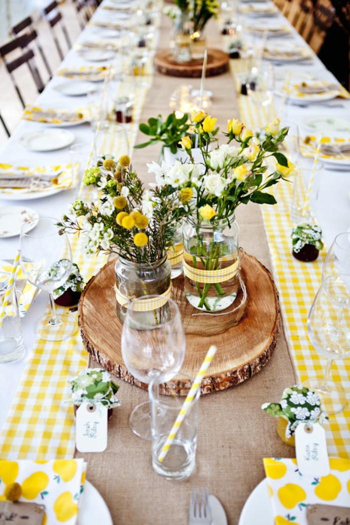Tischdeko holz blumen  Organisieren Sie Ihre ganz spezielle Gartenparty im Sommer