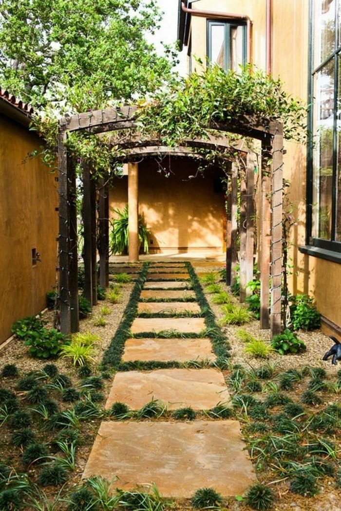 gartenweg elegante idee für den hinterhof