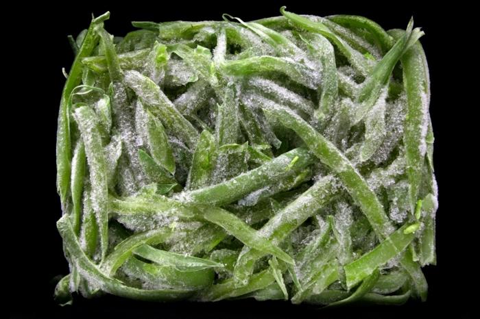 gefrorenes gemüse in tüte aufbewahen bohnen