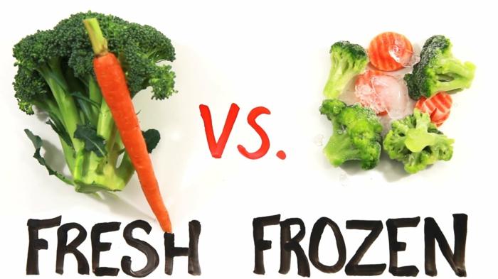 gefrorenes gemüse oder besser frisches gemüse
