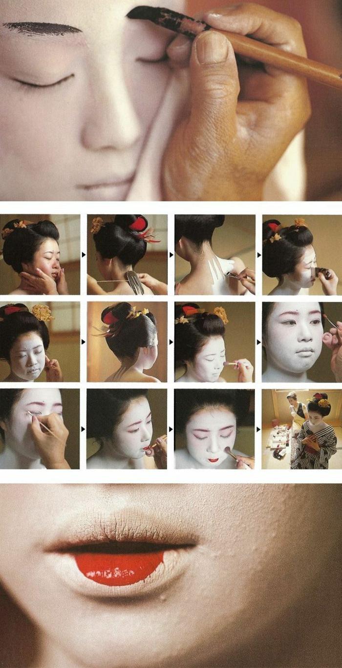 Japanische Frauen - so schminken Sie sich wie eine Geisha