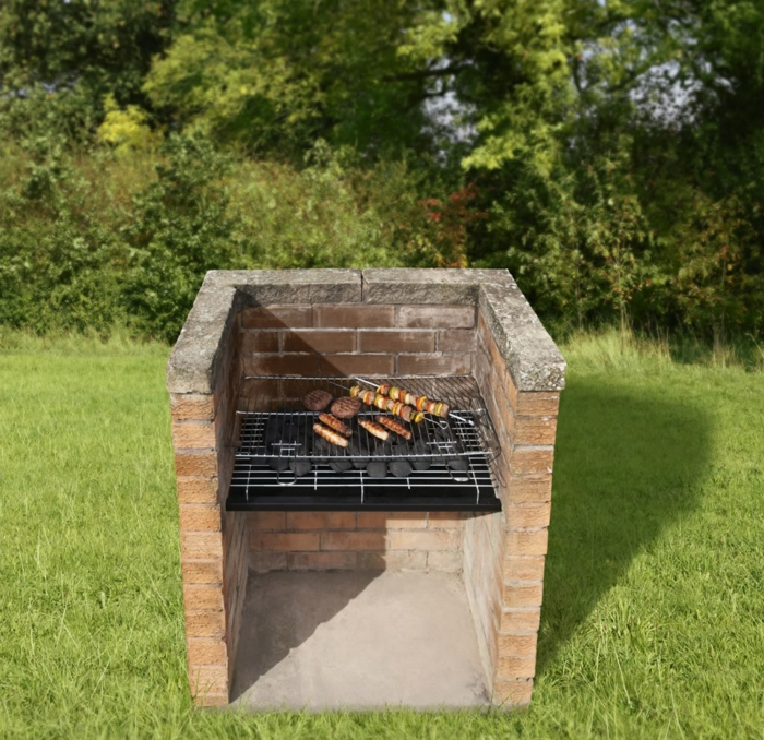 gemauerter grill bauen garten gestalten