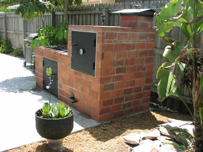 ... selber bauen Beispiel - Gartengestaltung Grillecke Gemauerter Grill