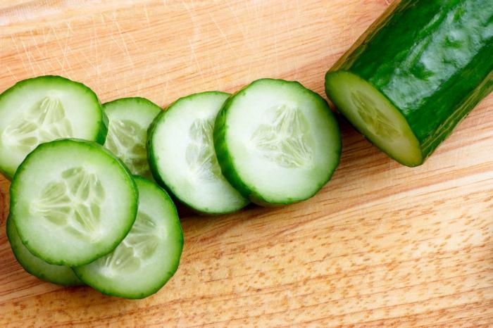 gesund essen gurken essen empfindliche haut tipps