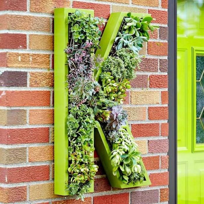 grüne wände buchstabe wandbegrünung vertikal