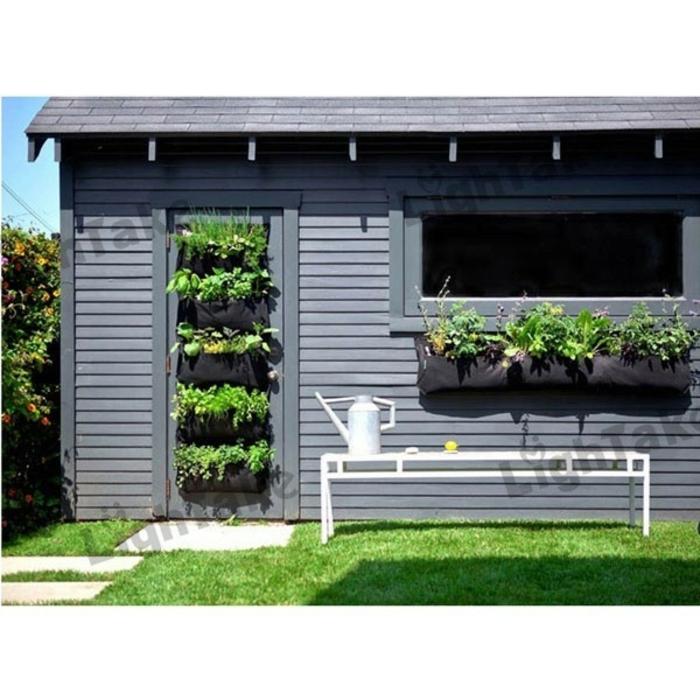 grüne wände vertikale gärten tür