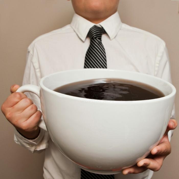 guten morgen kaffee riesige tasse kaffee