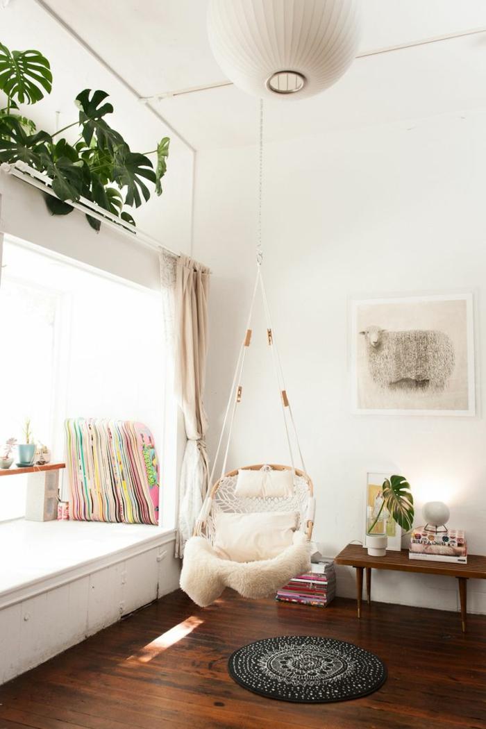 hängematte wohnzimmer design hängesessel mit gestell