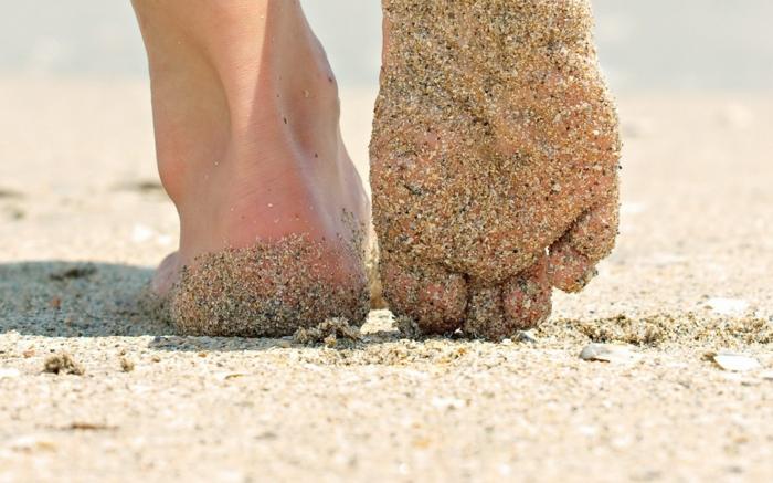 hobby barfuß barfuß laufen strand sand