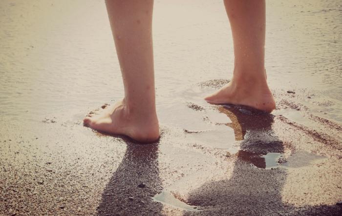 hobby barfuß barfuß laufen strand