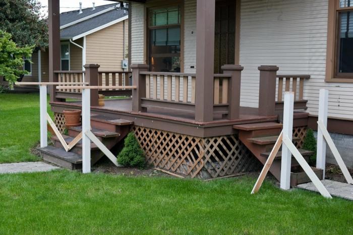 holz veranda bauen diy projekte holzart und materialien