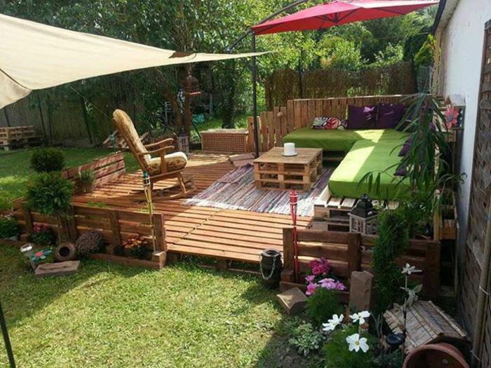holz veranda bauen diy projekte palettenmöbel