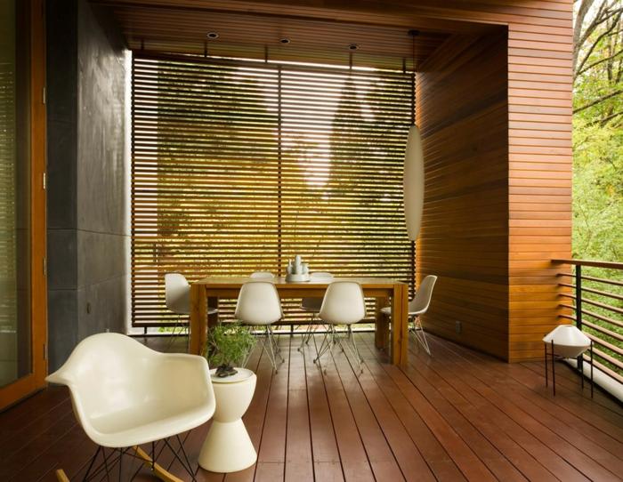 holz veranda bauen holzart auswählen moderne gestaltung esszimmer