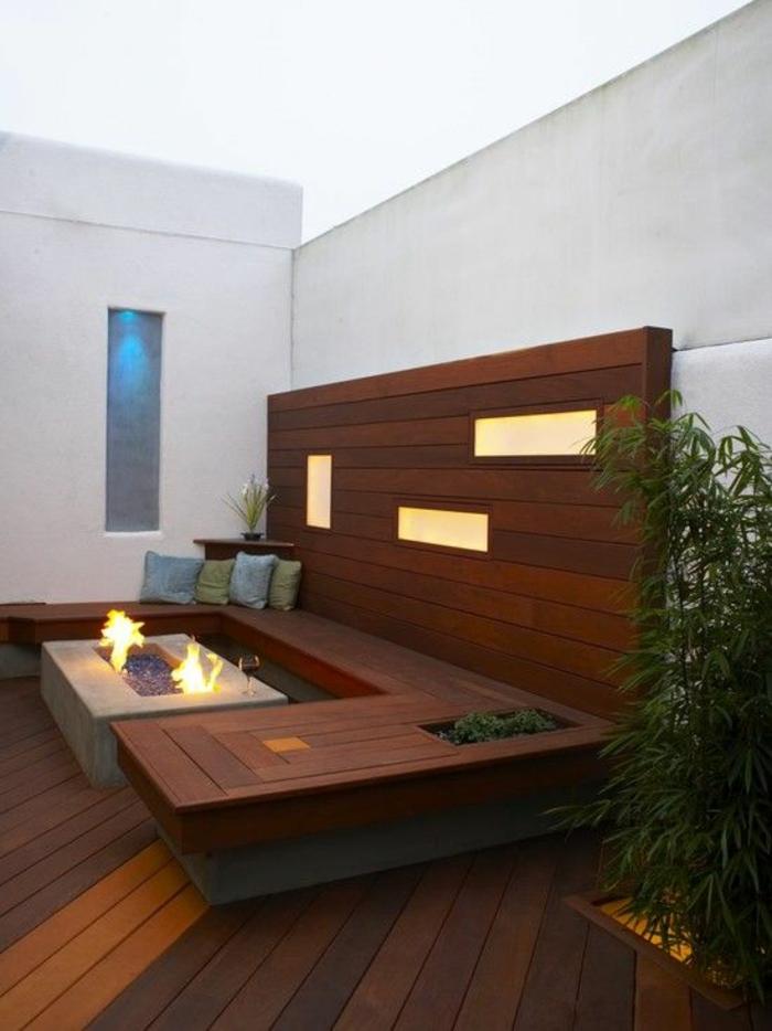 holz veranda bauen modern schlicht holzart auswählen