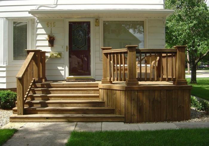 holz veranda bauen traditionelle terrassengestaltung